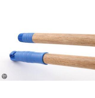 Borstelsteel hout - schroefdraad 1,4m