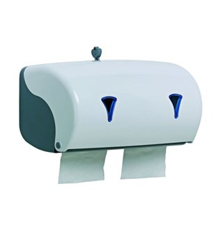 Distributeur papier toilette duo