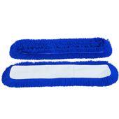 Vlokkershoes, blauw acryl, 60cm