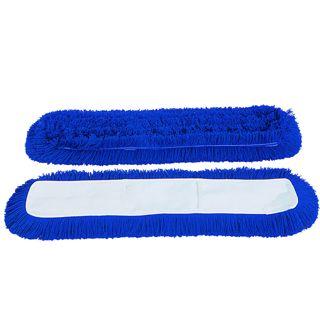 Vlokkershoes, blauw acryl, 100cm