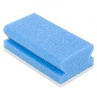 Schuurspons met handgreep Blauw/wit 5st