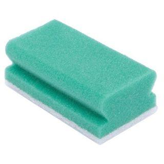 Schuurspons met handgreep Groen/wit 5st