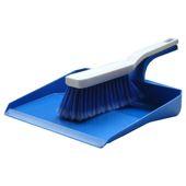 Pelle à poussière bleu + brosse, hygiène