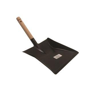 Pelle à poussière métal/mache en bois