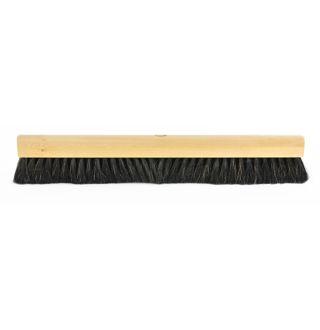 Zaalveger zwart haar, gelakt 30 cm