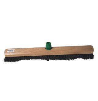 Zaalveger zwart haar/steelhouder 50cm