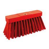 Balai de rue, rouge PVC, model fort