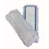 Vlakmop met zijflap/pochet, 40cm
