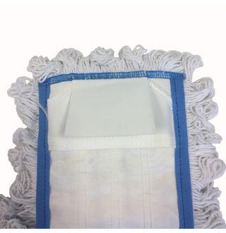 Vlakmop met zijflap/pochet, 50cm